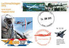 "PAF13-8T1 FDC NETHERLAND ""60 years French Patrol / ALPHAJET & MIRAGE 2000"" 2013"