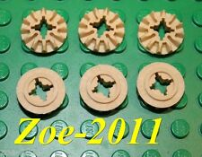 Lego Technic Tan 12 Tooth Bevel Gear 6 pieces NEW!!!