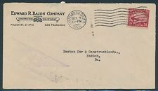 "#C6 ON EDWARD R. BACON Co. COVER VIA ""AEROPLANE MAIL"" CA. TO EASTON, PA BR4521"