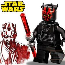 1pc Darth Maul Minifigure Building Blocks Toy Star Wars Custom Lego #087