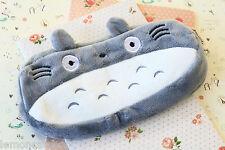 Totoro Cartoon Plush Pen Bag kawaii cartoon school Zip clutch makeup bag purse
