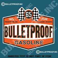 BULLETPROOF GASOLINE Decal Sticker Vintage Americana Rat Rod Hot Rod Stickers