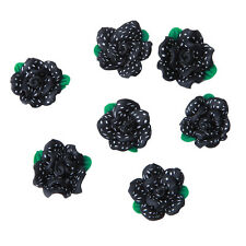 20pcs Black Color FIMO Green Leaves Flower White Dots Bead Fit Handmade DIY LC