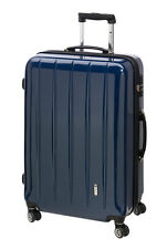 Trolley Hartschale 70 cm Koffer Trolly 4 Rad m TSA Schloß London  carbon blau