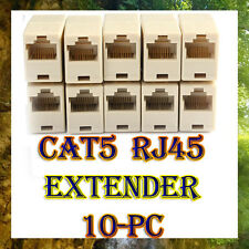 10X Cat5 Rj45 Network Cable Extender Connector Plug Coupler Female to Female F-F