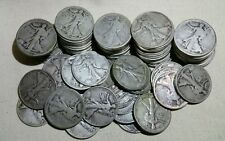 Lot of 10 Walking Liberty Half Dollars (Random Dates 1917-1939) - Free Shipping!