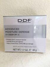 Authentic DDF Advanced Moisture Defense UV Cream SPF 15 Sunscreen Full Sz 1.7oz