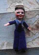 c1940 Liner Troop Ship Invicta Nora Wellings type Cloth Sailor Doll A1 Condition