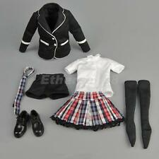 "1/6 Student Clothes School Girl Uniform Set For 12"" Hot Toys Action Figure"