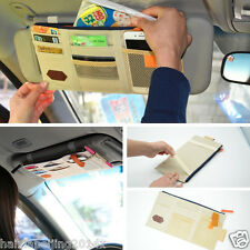 Auto Car Sun Shield Visor Organizer Board Storage Cover Bag Pocket Storage Beige