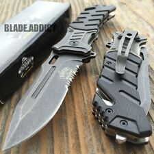 """8"""" BALLISTIC Tactical Combat Spring Assisted Open Pocket Rescue Knife EDC B-T"""