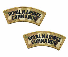 Pair of Velcro Backed MTP Multicam Royal Marines Commando Shoulder Flashes