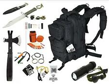 BLACK OPS SURVIVAL GEAR BUG OUT BACKPACK SURVIVAL HATCHET & SURVIVAL ESSENTIALS