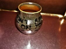 UNUSUAL ART POTTERY LARGE MUG / TANKARD DON'T SPILL ON YOUR SHOES DEEP GLAZE