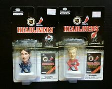 "Headliners PATRICK ROY Avalanche & MARTIN BRODEUR Devils 3"" NHL Figure Lot"
