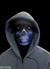 BLUE GRIM REAPER SCARY HALLOWEEN NOVELTY LYCRA FABRIC FACE MASK FANCY DRESS