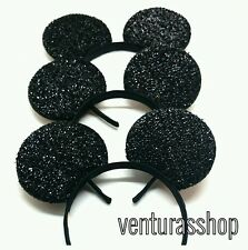 6 Mickey Mouse Ears Headbands Black Party Disney Mickey Costume Birthday child