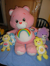 Care Bears Plush 5 Doll Lot -Cuddle Bear-collector's edtion bears+more 2002-2003