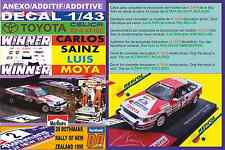 ANEXO DECAL 1/43 TOYOTA CELICA GT4 C.SAINZ R.NEW ZEALAND 1990 WINNER (03)