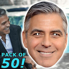 50 GEORGE CLOONEY PARTY CARD FACE MASKS HEN PARTY BIRTHDAY NIGHT OUT #MP33