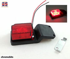 2x 8 SMD LED RED RUBBER SIDE MARKER LIGHTS LAMPS TRAILER CHASSIS TRUCK CAB 24V