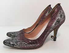"""Maison Martin Margiela """"RUNWAY"""" Deconstructed Glitter Curl Heels  SZ 37  R. $998"""
