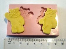 Silicona Molde Pudsey niños necesitados Cumpleaños Cupcake Pastel Glaseado Fimo Resina