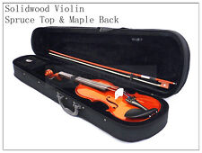 3/4 New Solid Wood Violin /Bow /Rosin /Case + Recorder