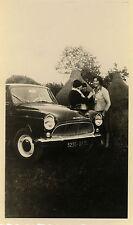 PHOTO ANCIENNE - VINTAGE SNAPSHOT - VOITURE SIMCA PEUGEOT PRÉ FOIN - CAR 1961