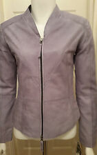 NEW Cigno Nero Zorika Leather Jacket - Steel - Size 36