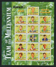 GAA 1999  DX197  STAMPA   EXHIBITION   GAELIC  FOOTBALL PUBLIC  SOUVENIR