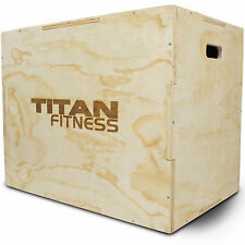 "Titan Fitness 20"" 24"" 30"" Wood Plyometric Box HD Plyo Box Jump Exercise Training"