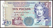GUERNSEY  10 Pounds  ND (1995)   Gem UNC