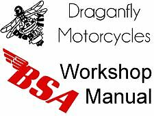 BSA Workshop Manual 1967 Model B40 WD Part No 00-4194 - Draganfly Motorcycles