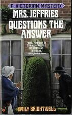 Mrs. Jeffries Questions the Answer (Victorian Mystery) Brightwell, Emily Mass M