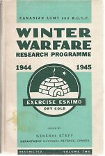 (Extremely Rare) Winter Warfare 1944 1945, Exercise Eskimo, Volume 2