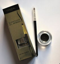 Loreal SUPERLINER GEL INTENZA EYELINER + BRUSH 02 GOLDEN BLACK eye liner