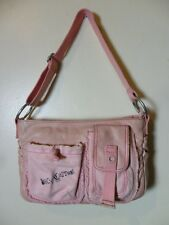 JUICY COUTURE PINK LEATHER BAGUETTE SHOULDER BAG!