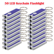 Lot of 50: New Portable Mini Super Bright LED FlashLight Ring Key Chains Lamp
