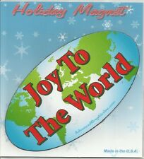 "Advanced Graphics Inc. Joy To The World  3.5"" x 7"" Oval Auto Magnet **NEW**"
