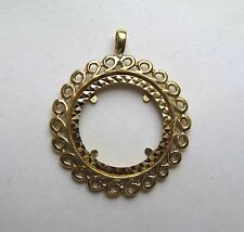9ct Gold Full Sovereign Coin Pendant Mount 5g