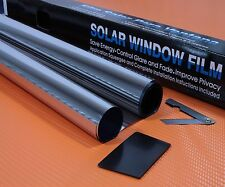 "SILVER MIRROR 15% CAR WINDOW TINT ROLL 3M x 75CM ( 9'10"" x 2'6 ) FILM TINTING"