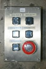 Hoffman E6PBSS Industrial Control Panel Enclosure with (4) Buttons, (2) Lights