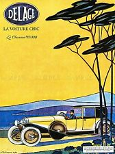 Anuncio del automóvil Delage Auto New York Usa Vintage de arte cartel impresión 787pylv
