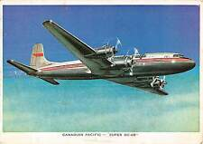 B99659 canadian pacific super dc 6b canada  aviation plane avion