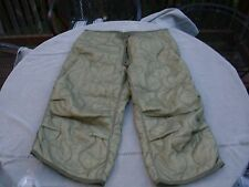 Army USMC Green Camouflage M-65 M65 Trousers Field Pants Liner Large S/R- New