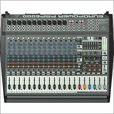 Behringer PMP6000 Active 20-CH Powered Mixer Board 1600W Amplified w/ Effects