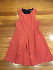 Marcs Pink Orange Dress Size AU 8 Work Office Formal Casual Good Condition