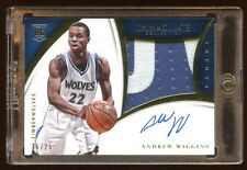 IMMACULATE ANDREW WIGGINS RC AUTO #D /25 LIMITED PATCH LOGO  BEAUTIFUL LOOK@ HOT