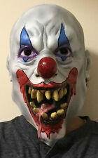 Psycho Clown Mask Wide Smile Tongue Out ICP Evil Adult Creepy Halloween Costume